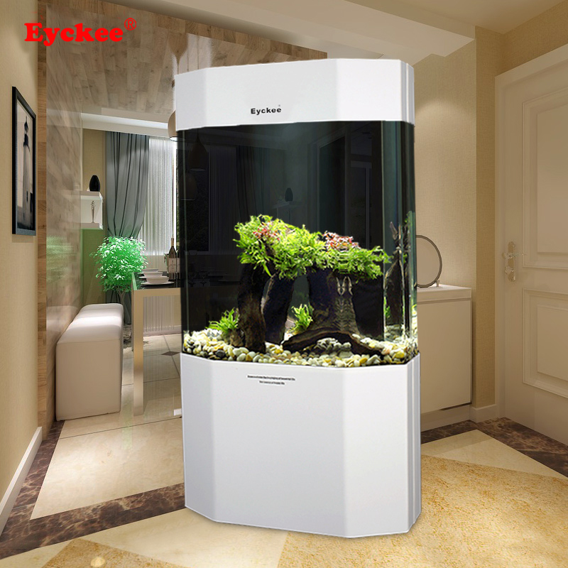 eyckee爱客鱼缸 八边形亚克力生态水族箱 观赏家居鱼缸水族箱