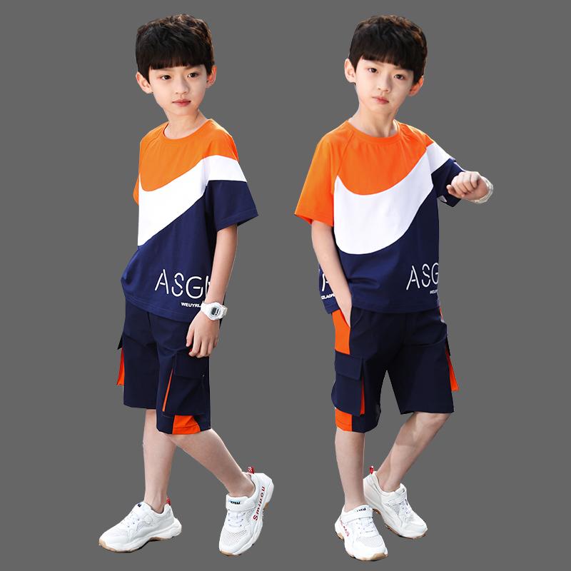 童装男童夏装套装2020新款中大童小男孩夏季帅气韩版洋气短袖潮衣