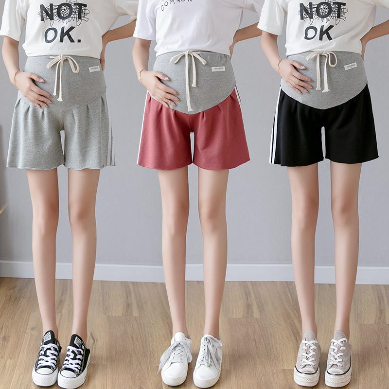 孕妇短裤女夏装孕妇裤夏季运动宽松夏装孕妇打底裤子薄款外穿