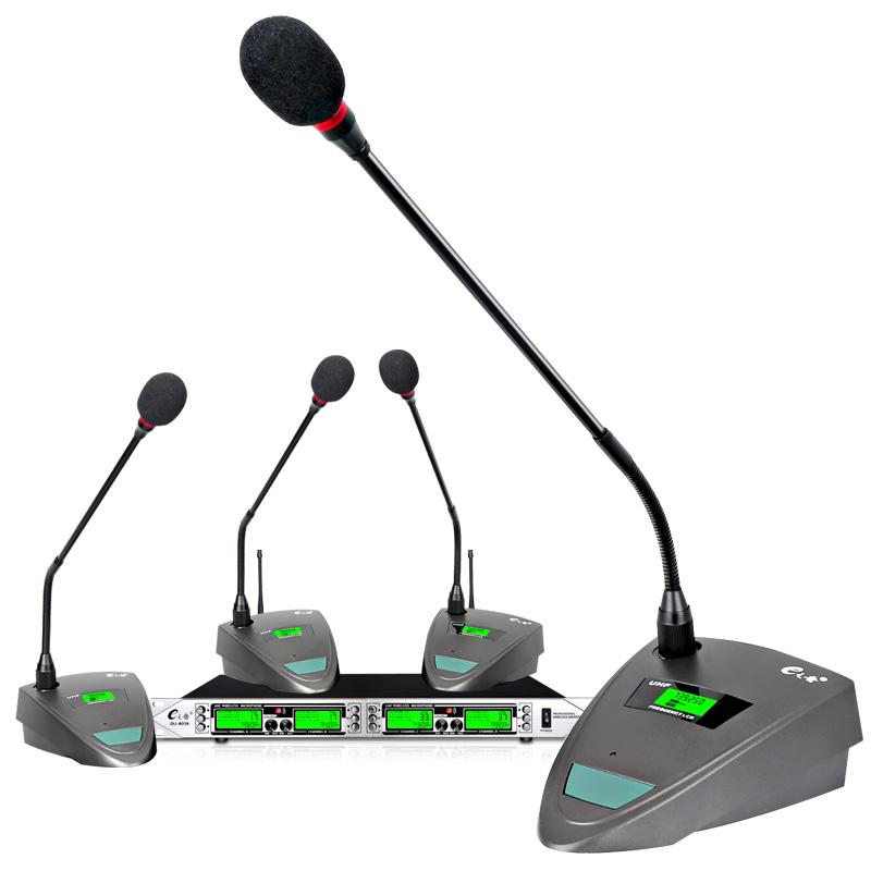 E之音 DU-8038无线麦克风会议话筒一拖四舞台会议手持领夹头戴