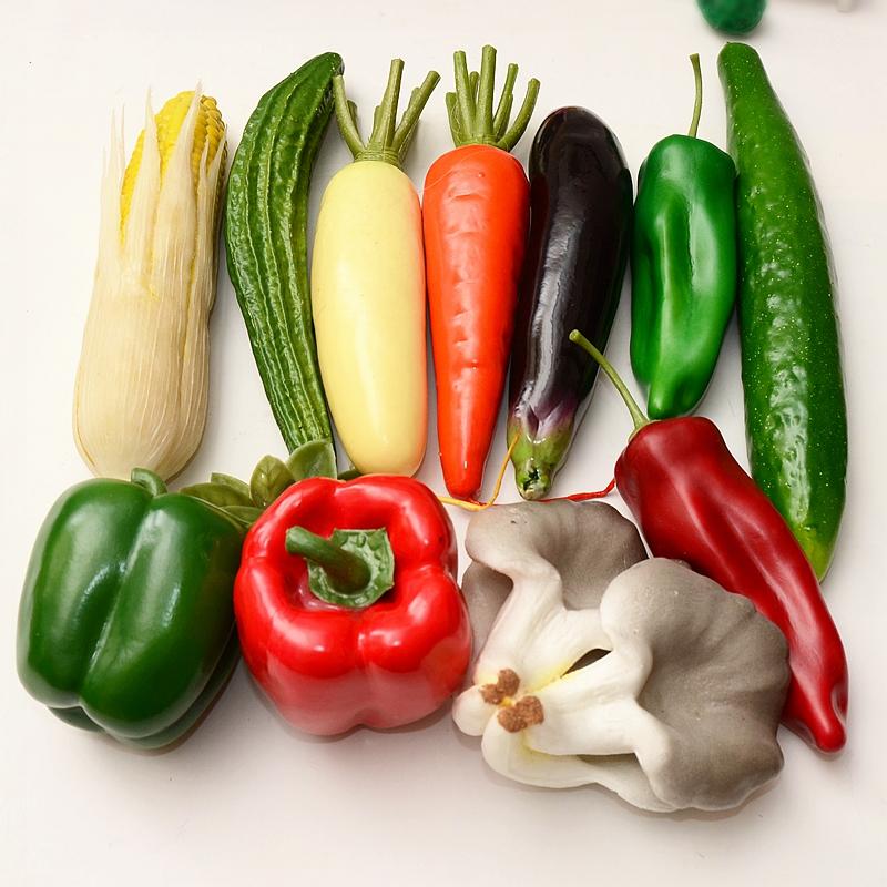 仿真蔬菜模型道具幼儿玩具教具 加重果蔬摆件橱窗商场样板房装饰