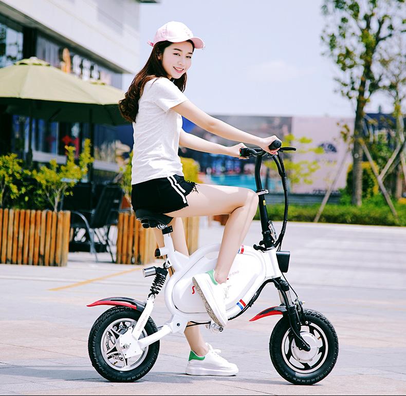 比步36V折叠电动车自行车代步车电瓶车锂电男女成人便携代驾车