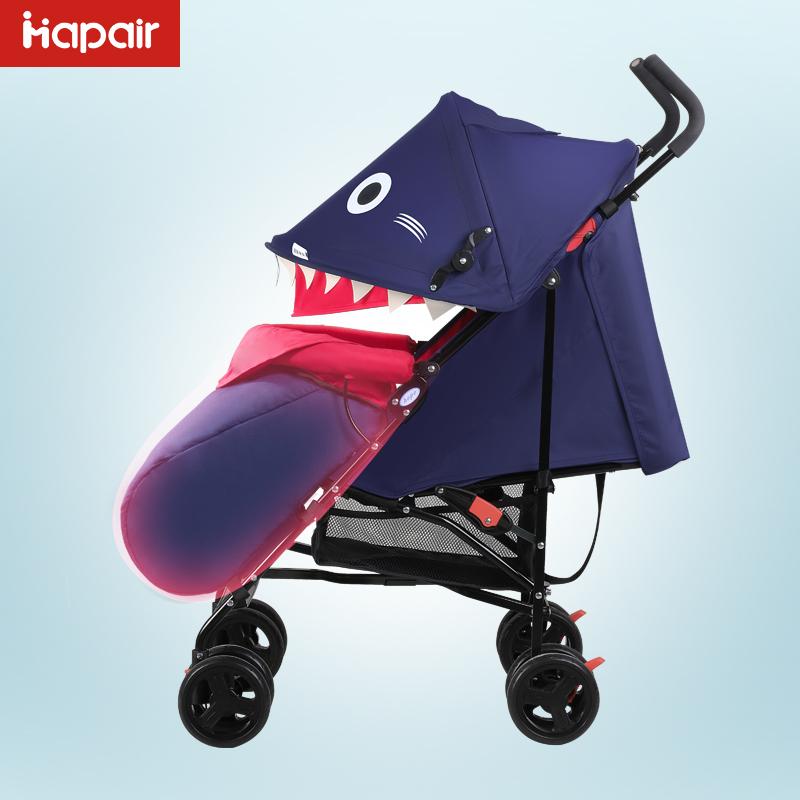 呵宝婴儿推车鲨鱼通用型脚套宝宝秋冬加厚棉质套车婴儿车伞车配件