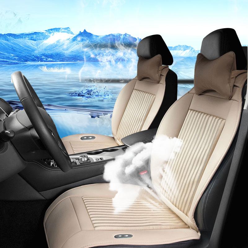汽车坐垫夏季制冷透气座椅通风按摩冰丝座垫货车通用轿车凉垫单座