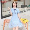 少女夏2018新款韩版女小清新学生裙显瘦甜学院美仙女连衣裙中长款