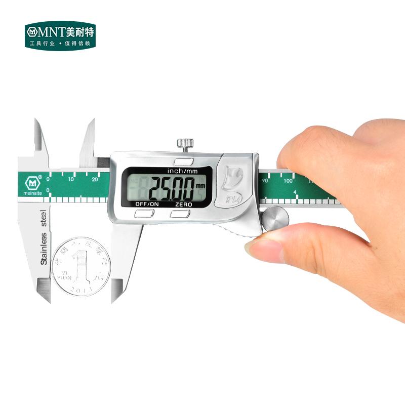 德国美耐特®游标卡尺 不锈钢 电子数显卡尺 高精度 150 200 300mm