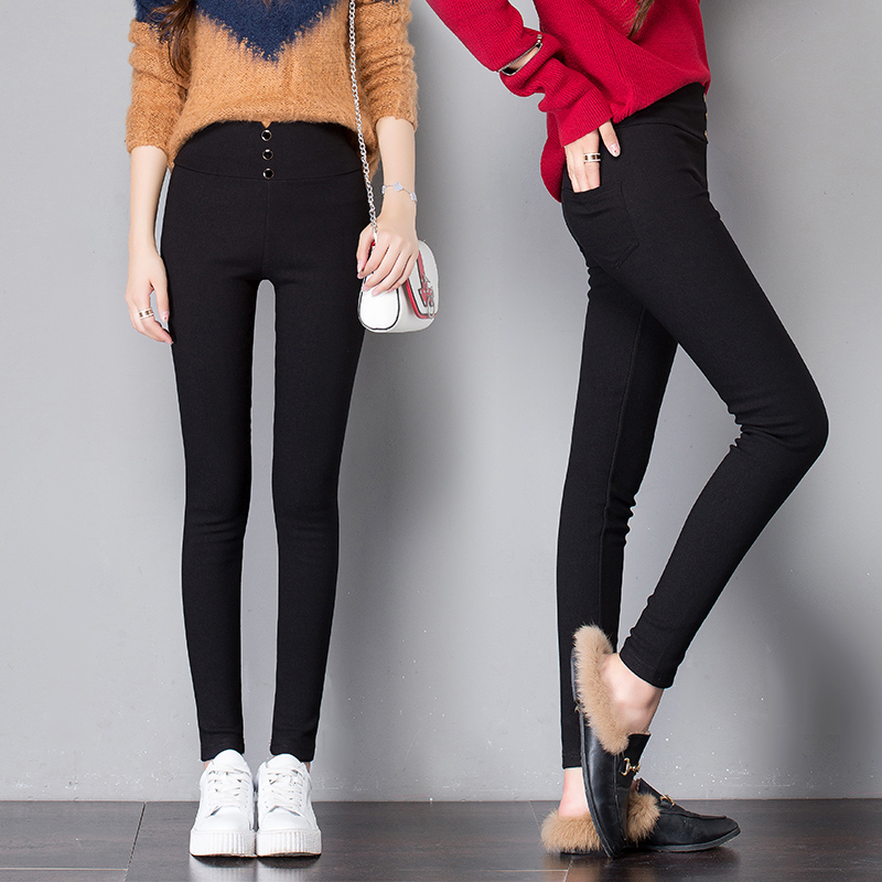 Leggings black high waist summer 2019 new wild Korean version of the large size small pencil wear thin pants