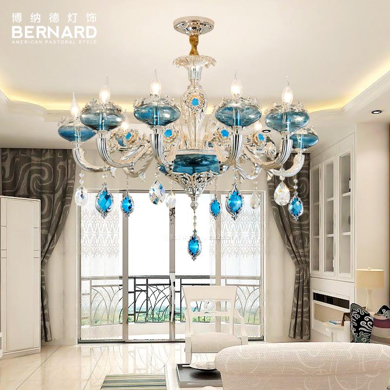 博纳德欧式吊灯客厅吊灯奢华大气卧室餐厅灯复式楼简欧水晶吊灯具