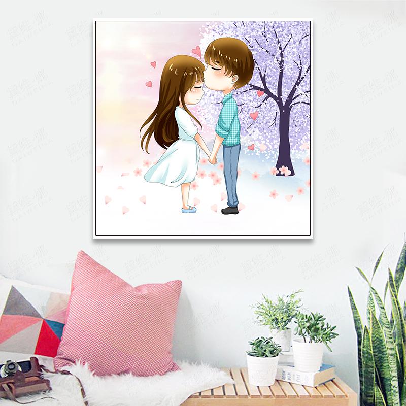 满绣十字绣情侣结婚客厅卧室十字绣