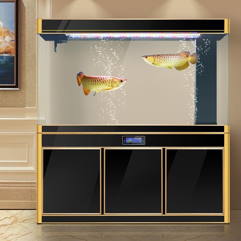 汉霸生态鱼缸水族箱客厅 超白玻璃鱼缸免换水底过滤家用长方形