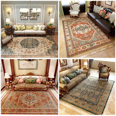 美式地毯客厅复古乡村田园茶几长方形家用别墅卧室土耳其进口波斯