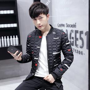 韩版男士加厚修身夹克棉服外衣