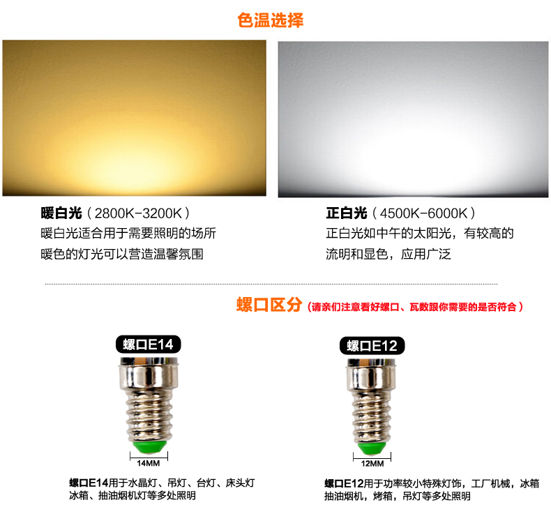 LED-светильник Ring Xin  LED E12 E14 6W - 3