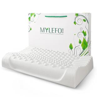 福满园泰国进口乳胶枕头成人单人护颈椎枕头橡胶枕学生枕芯记忆枕