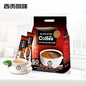 越南特产进口西贡咖啡粉饮品原味50条袋装800g速溶咖啡特浓正品