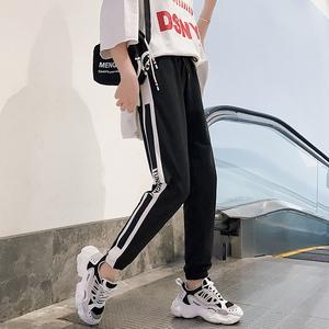 运动裤女宽松ulzzang学生ins嘻哈伦裤