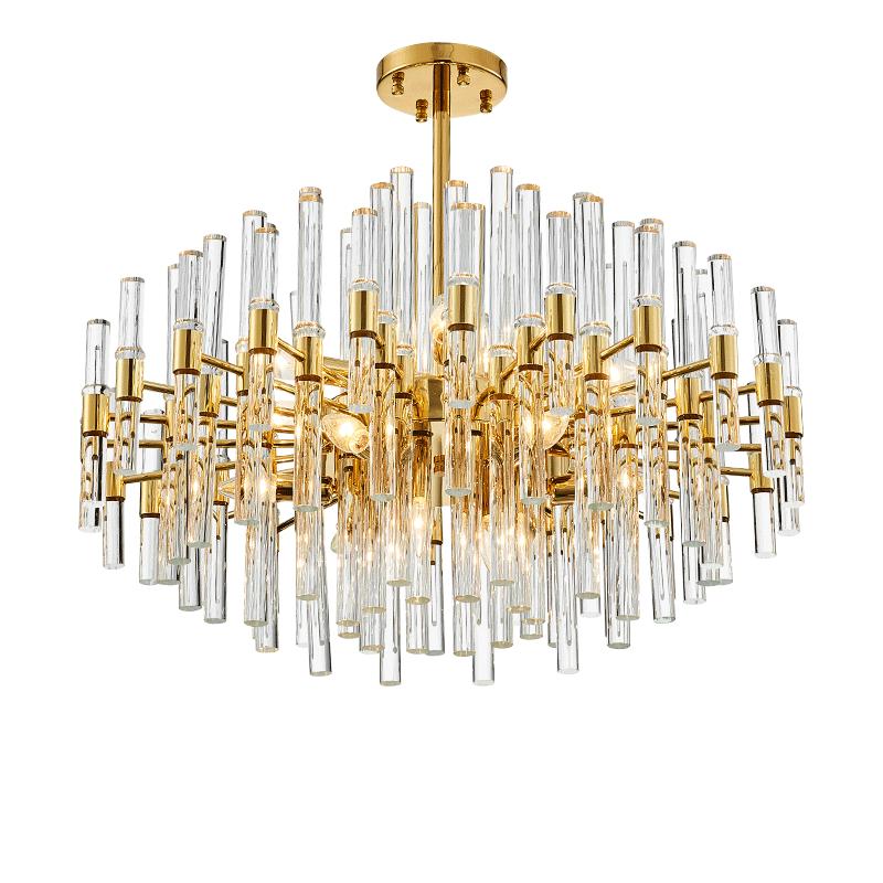 新款后现代奢华水晶棒吊灯客厅餐厅北欧个性创意设计师轻奢灯具