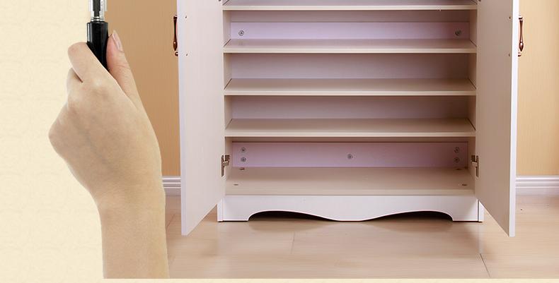 特价欧式象牙白烤漆鞋柜简约玄关柜门厅