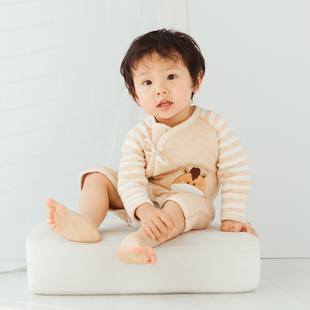 婴儿宝宝纯彩棉哈衣蝴蝶衣和尚服四季秋冬新生儿连体衣0-3个月
