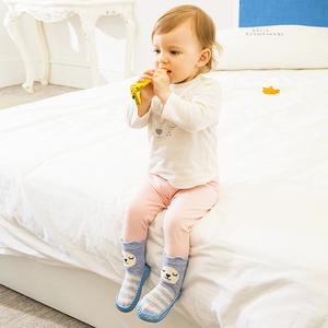 春秋儿童地板袜0-6-12月婴儿袜棉袜宝宝学步袜1-4岁防滑袜套鞋袜