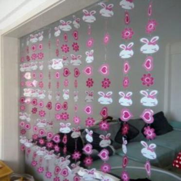 包邮日式客厅卡通塑料可爱装饰挂帘 PVC软门帘隔断半帘子玄关成品