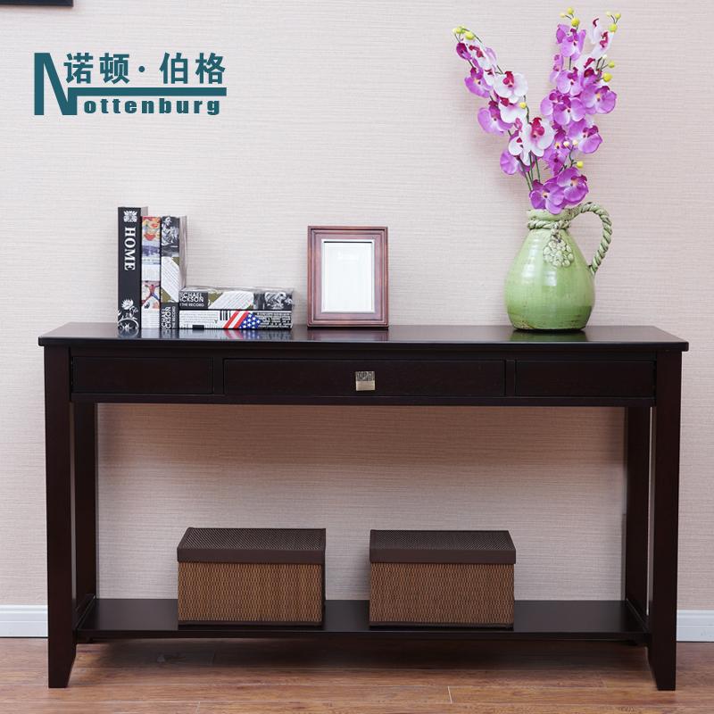 实木玄关柜美式玄关台现代简约玄关桌沙发后背柜装饰桌墙边柜条案