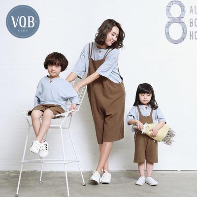 VQB亲子装秋装2018新款潮春装一家三口母子母女全家装夏棉麻亚博平台怎么样