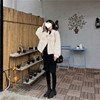 Real Shot Price Autumn And Winter New Thick Short Paragraph Net Red Imitation Velvet Coat Furry Loose Long-Sleeved Shirt