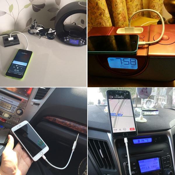 苹果7接口iphone4转5 6转接头4s转6s音频输出音箱转换器30-pin
