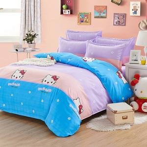 亚彩四季款学生宿舍四件套夏季1.8m床上用品磨毛被套床单舒适夏季