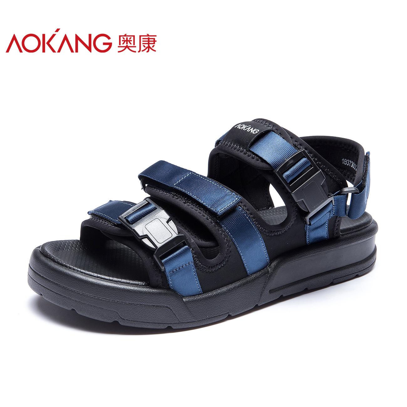 奥康旗舰店官方男鞋2018夏季潮流新款韩版罗马鞋男士运动沙滩凉鞋