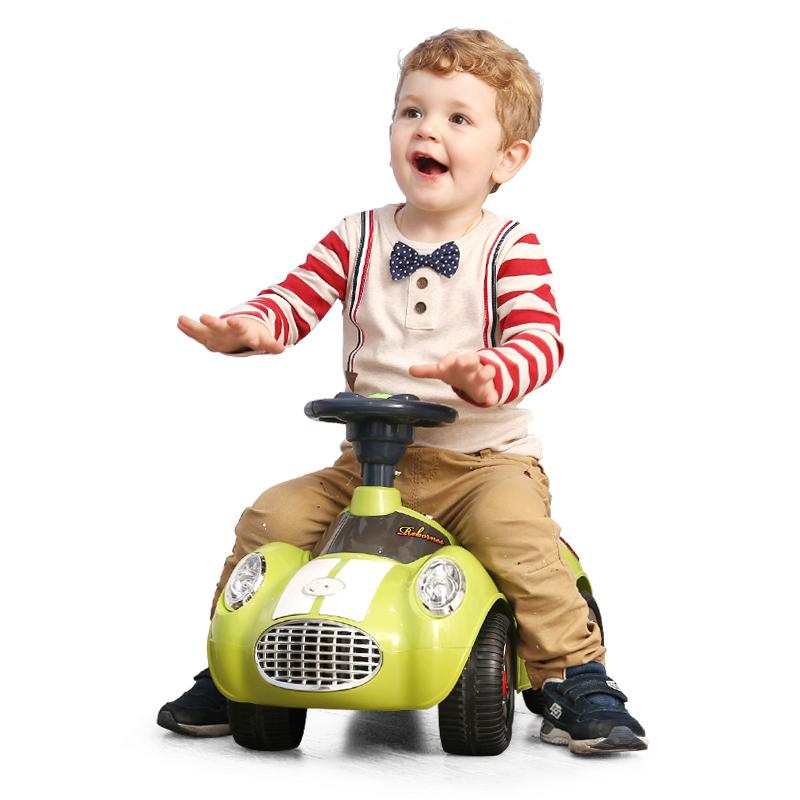 A+B 儿童扭扭车静音轮音乐灯光助步车学步车 Q版 四轮滑行车