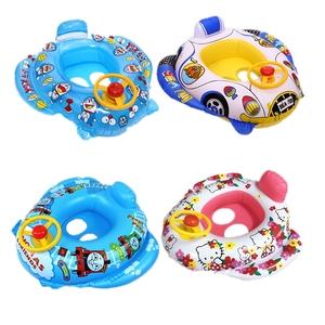 正版加厚婴儿童宝宝游泳圈小孩救生圈1-3岁幼腋下充气坐骑趴浮圈