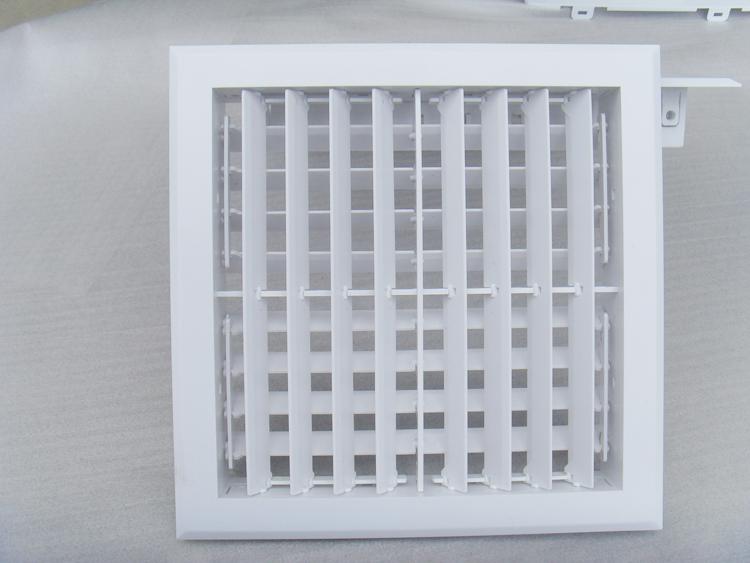 abs中央空调出风口双层系统风口排风单单向风机风口百叶定做塑料流新新风安装及使用说明图片