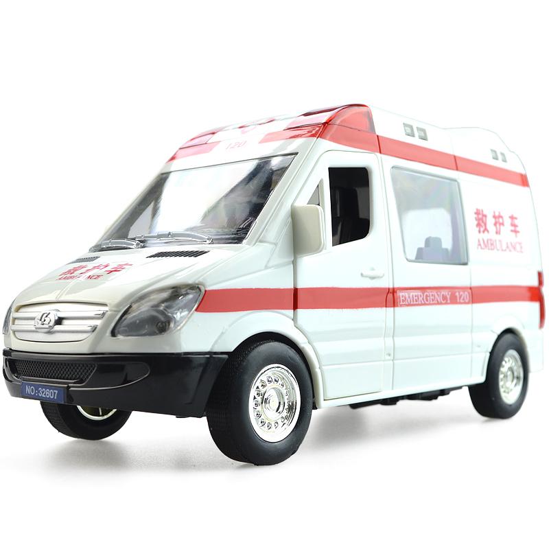 救护车玩具120救护车 大号惯性声光早教玩具车 仿真警车公安