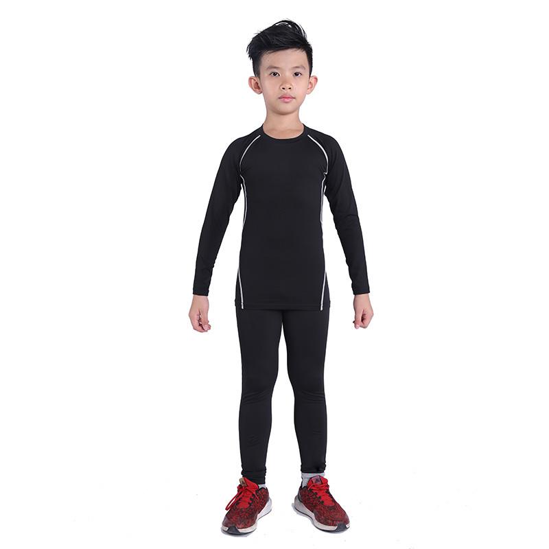 儿童透气弹力运动紧身健身裤
