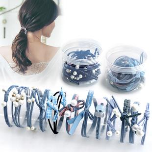头绳女韩国绑扎头发的像橡皮筋发圈韩版简约可爱皮套发绳成人头饰