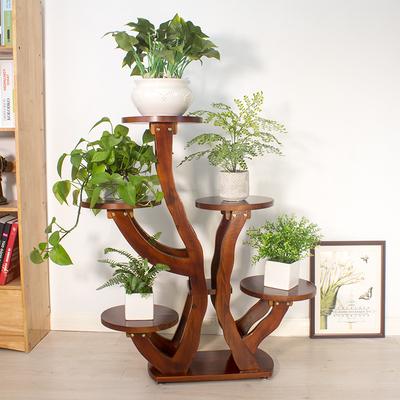 实木花架客厅室内阳台落地多层装饰木质欧式吊兰绿萝花架子花盆架