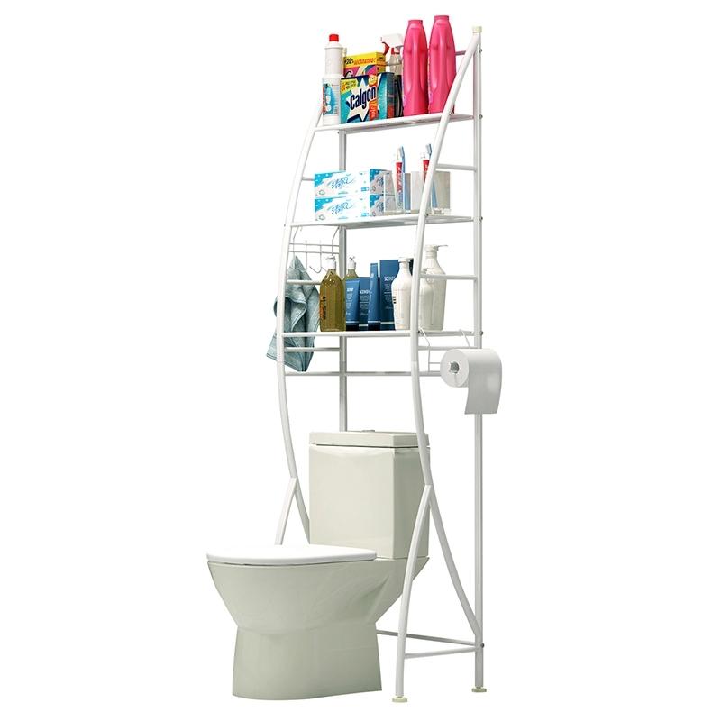 置物架浴室卫生间厕所马桶架落地洗衣机架洗手间免打孔收纳架架子