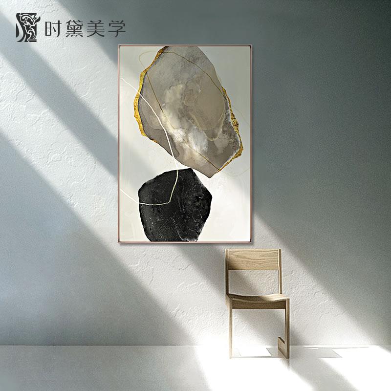 时黛 现代简约抽象艺术客厅玄关装饰画北欧挂画玄幻卧室落地壁画