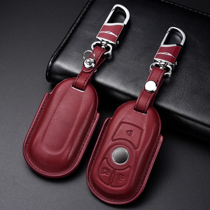 适用于别克昂科威钥匙包新君威君越GL8velite5真皮汽车钥匙套扣壳