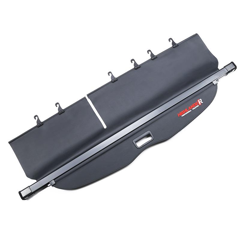 专用于15-18款丰田汉兰达遮物帘 18款全新汉兰达后备箱隔板改装