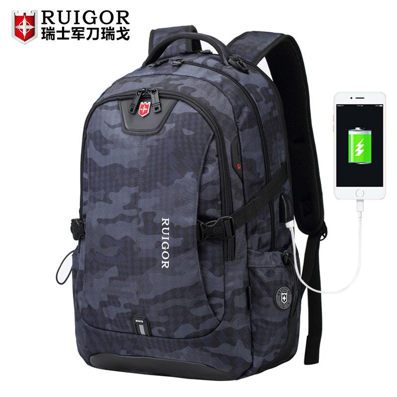 瑞士双肩包男瑞士军刀瑞戈书包男中学生书包女大学背包旅行背包