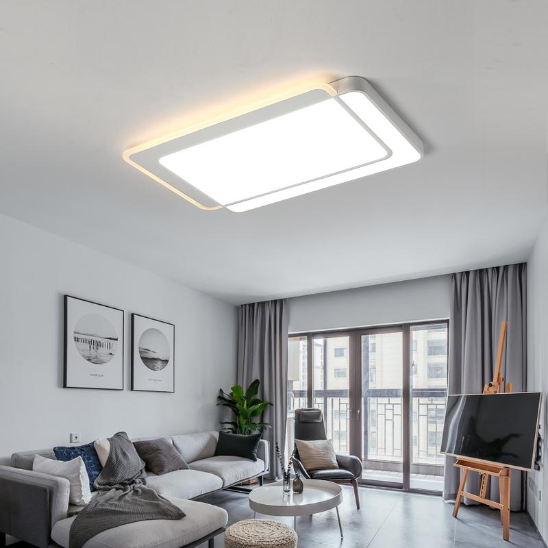 客厅灯简约现代大气家用长方形高档灯饰主卧室led吸顶灯具