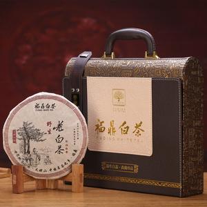 【福鼎白茶贡眉350g】福建陈年福鼎老白茶饼叶陈年老白茶饼礼盒装