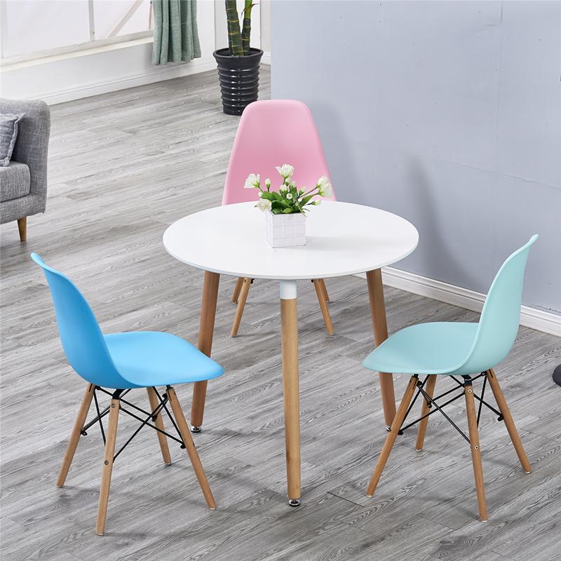 伊姆斯小圆桌休闲简约现代接待会客洽谈桌椅组合咖啡厅奶茶店餐椅