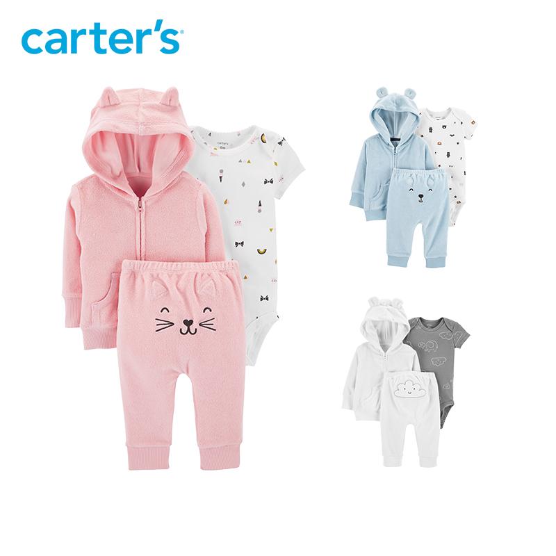 美国 Carter's 卡特 女童卡通三件套  外套+长裤+连身衣 天猫优惠券折后¥99包邮(¥119-20)59~80码3色可选