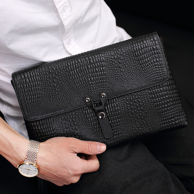 PA chess men's clutch bag 2018 new men's bag envelope header layer of leather large capacity soft leather men's bag