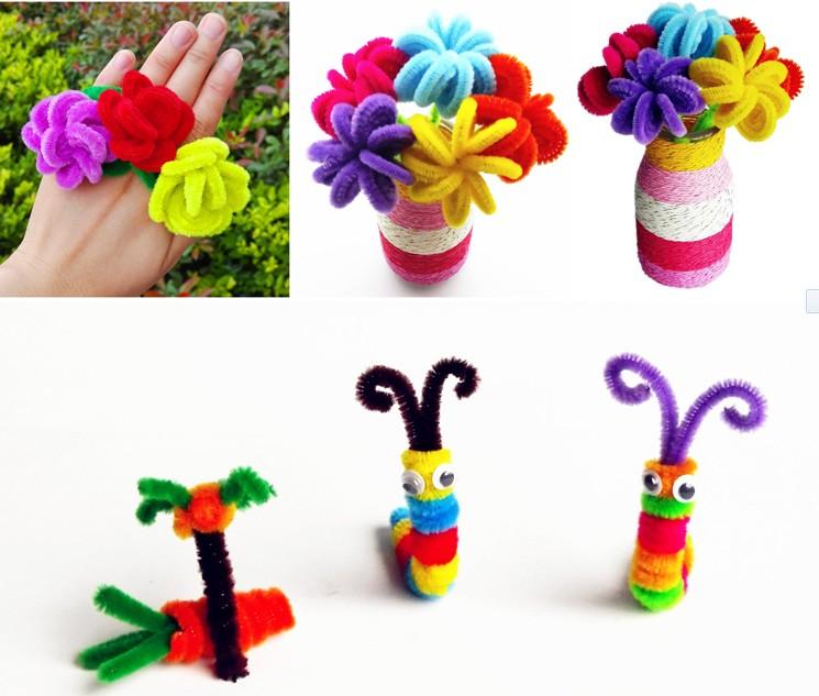 于欧美国家幼儿园diy手工制作课程,制作平面的粘贴画或做小动物的尾巴