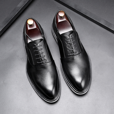 Men Fashion Leather Shoes Man Business Formal Shoes 437923